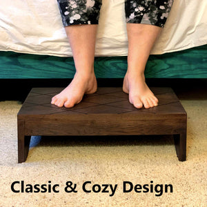 Wood Step Stool Large Custom Handmade Handicapped Elderly Bed Solid Hardwood Kitchen Bathroom Personalized Engraved Foot Stool