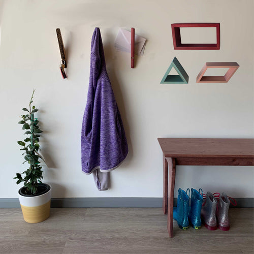 Floating Shelf Wood Square Rectangle Triangle Trapezoid Shape Wall Art Geometry Shelves Hidden Bracket Display Shelf Winter White