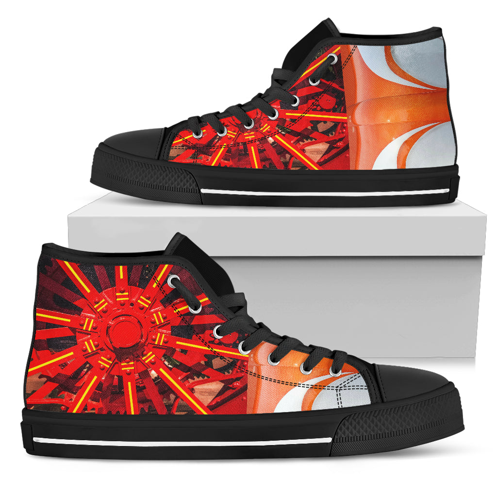Black And Orange Men's Sneakers