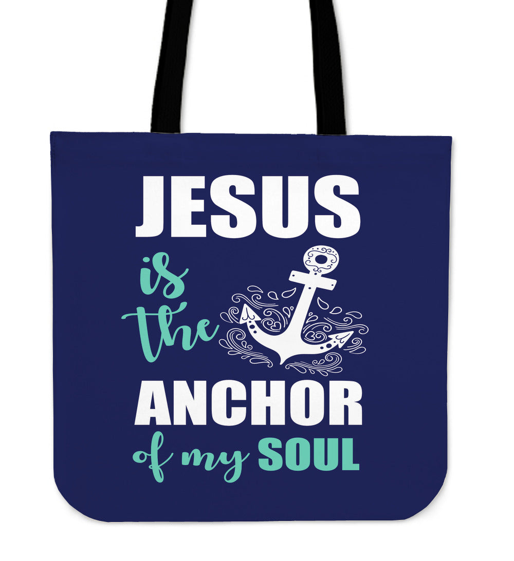 NP Jesus Is The Anchor Tote Bag
