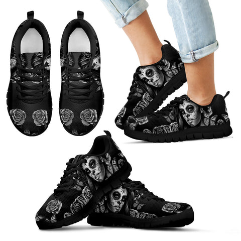 Kid's Sneakers Calavera Gray (Black Soles)