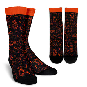 ORANGE Scatter Design Open Road Girl Socks