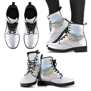 Whale Mandala Women's Leather Boots