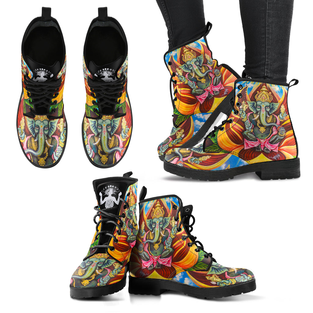 Ganesha - Women's Leather Boots