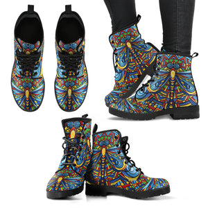 Colorful Dragonfly Women's Leather Boots
