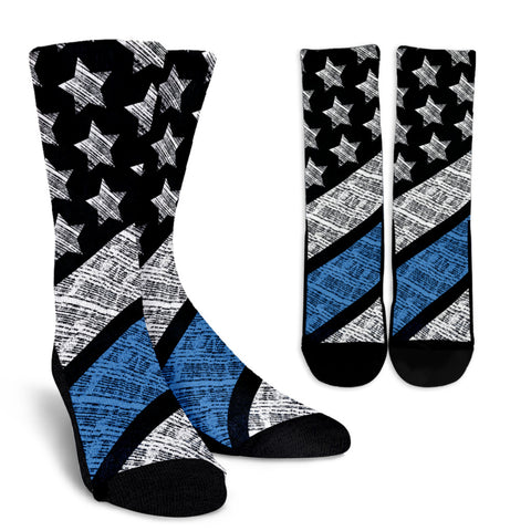 Blue Lives Matter Crew Socks