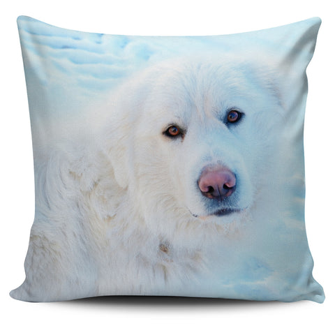 Snow Dog Pillow Cover