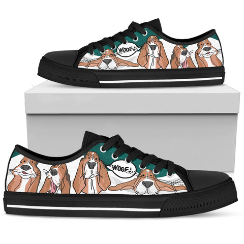 Basset woof Women's Low Top Shoe