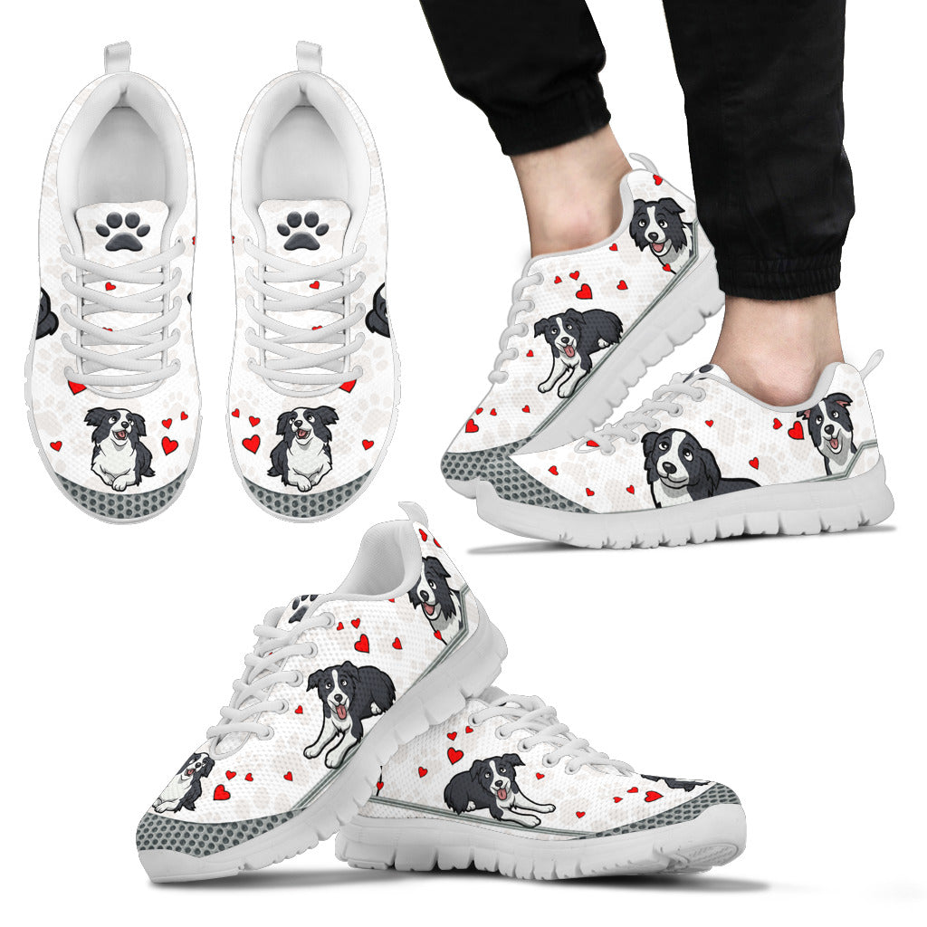 border collie collection Men's Sneakers
