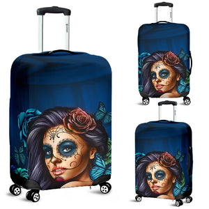 Luggage Covers Calavera Teal