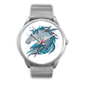 Colorful Tribal design Horse Watch