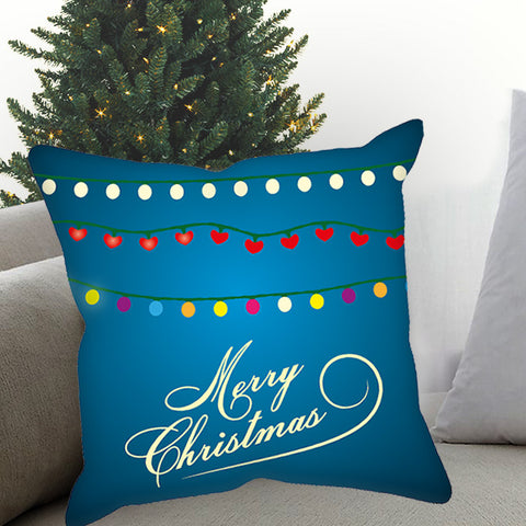 Merry Christmas Light Sublimated Pillow Case
