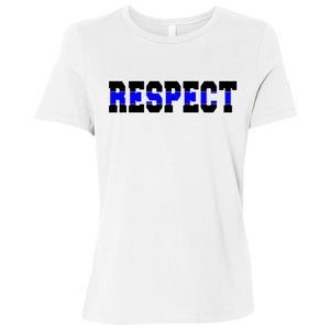 RESPECT Thin Blue Line Police officer, Dispatch, Sheriff, State Patrol Gift under 20 dollars T-Shirt