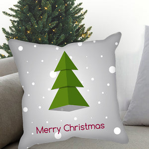 Merry Christmas Snow Tree Sublimated Pillow Case