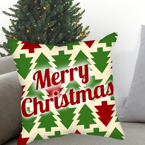 Merry Christmas Tree Plaid Sublimated Pillow Case