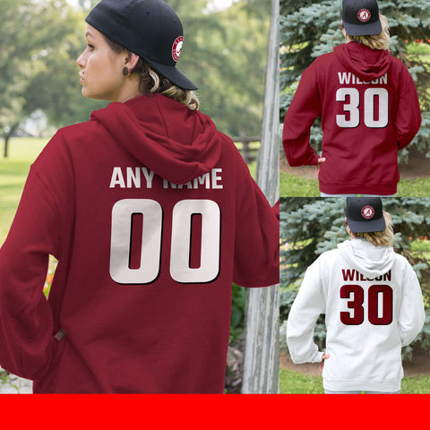 Personalized Team Favorites Crimson Red Color Adult Hoodie