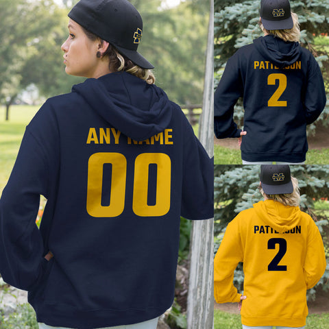 BLUE and YELLOW Team Color Adult Hoodie