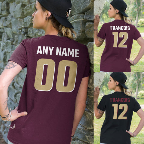 Maroon and Gold Team Colors Adult Unisex T-Shirt