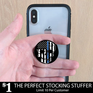 Blue line Skull                     pop-up phone grip