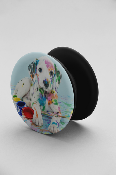 Painted Dog Pop-up phone grip