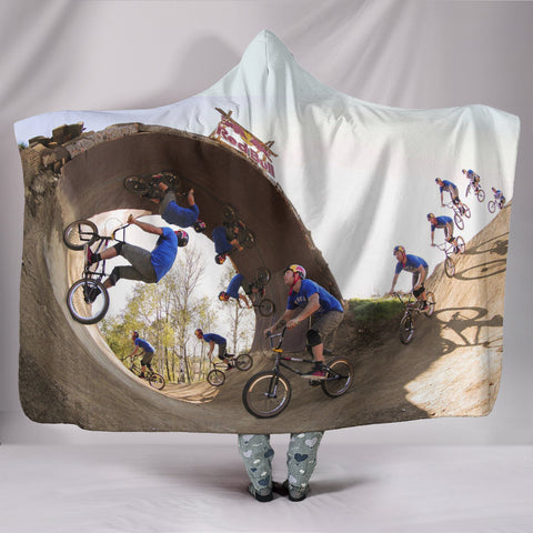 Bicycle Hooded Blanket