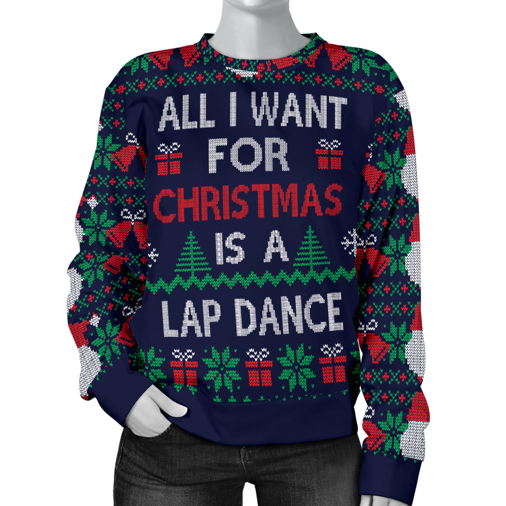 Ugly Christmas Sweater All I Want is a Lap Dance