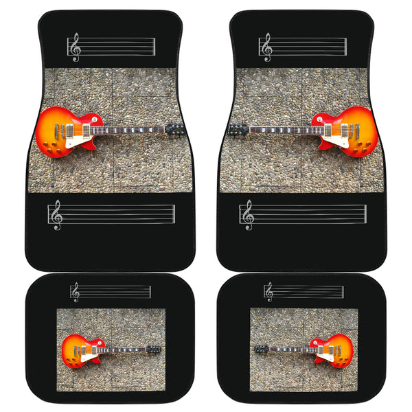 Front And Back Car Mats (Set Of 4) - Guitar