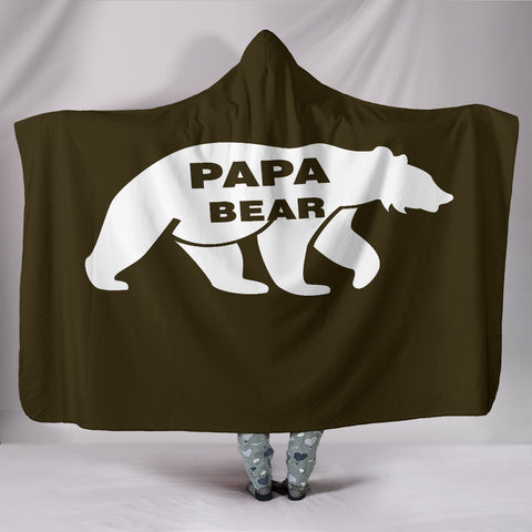 NP Papa Bear Hooded Blanket