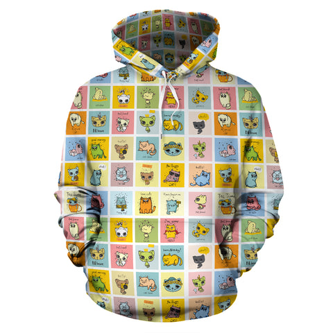 Comic Cat Hoodies