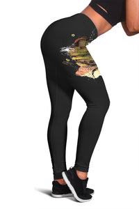 Mother Foal Horse Leggings (Black)
