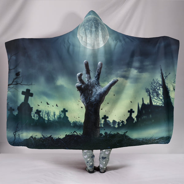 Zombie Hand Hooded Blanket