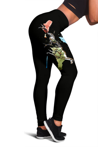 Running Horse Leggings (Black)