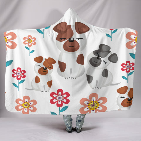 Customised Hoodie Blanket Puppy Love