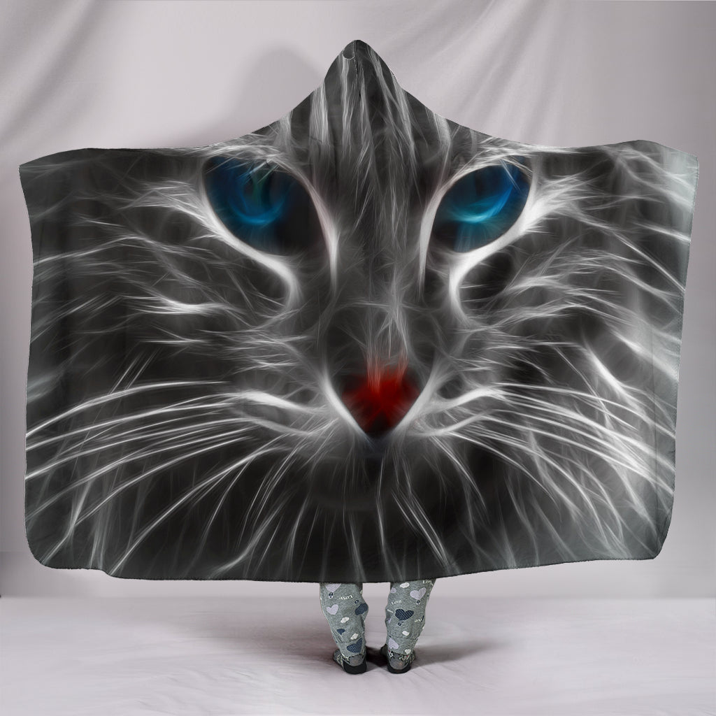Electric Cat Hooded Blanket