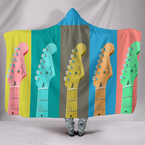 Fender Stratocaster Plush Lined Hooded Blanket