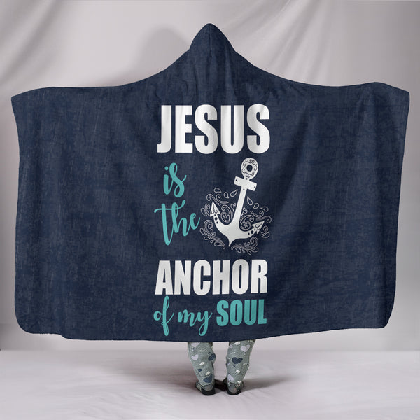 NP Jesus Is The Anchor Hooded Blanket