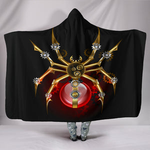 Steampunk Spider Hooded Blanket