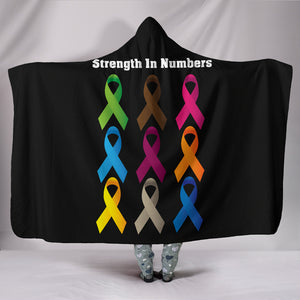 Strength In Numbers Hooded Blanket