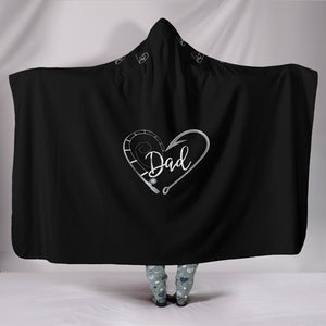 Customised Hoodie Blanket Dads Fishing Hook