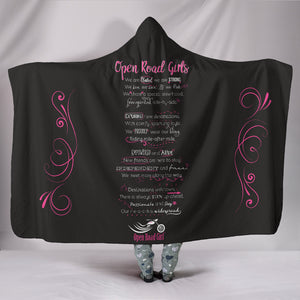 Open Road Girl Manifesto Hooded Blanket