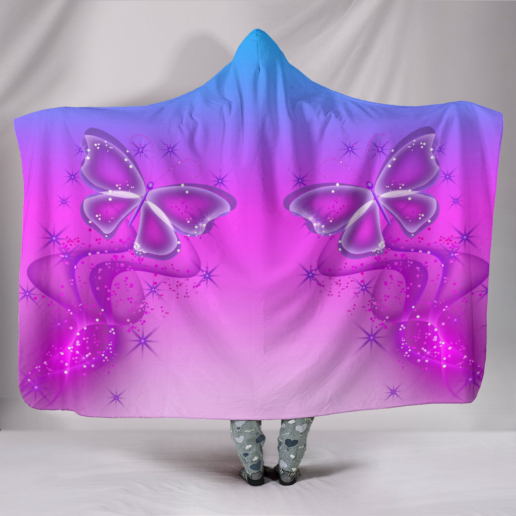 Butterfly Magic Hooded Blanket