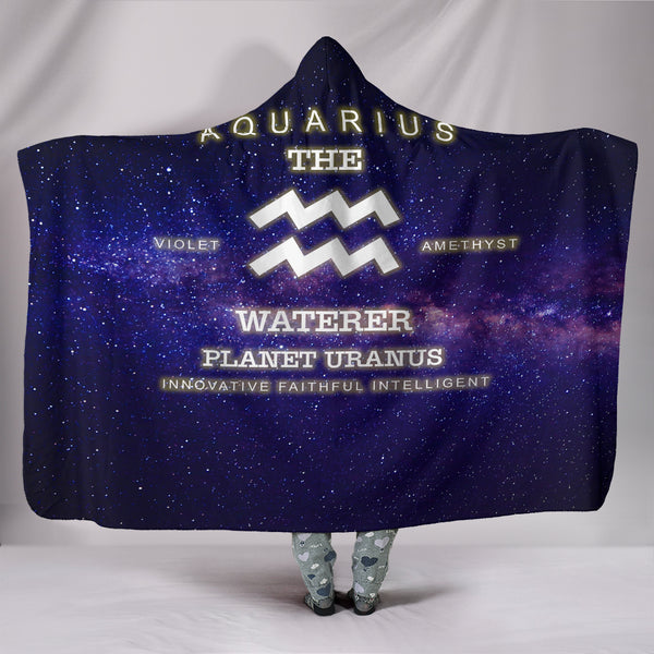 NP Zodiac Aquarius Hooded Blanket