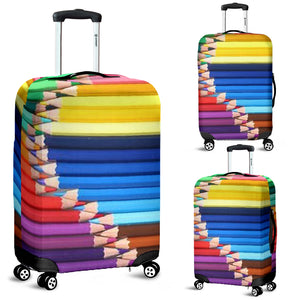 Colored Pencils Luggage Cover