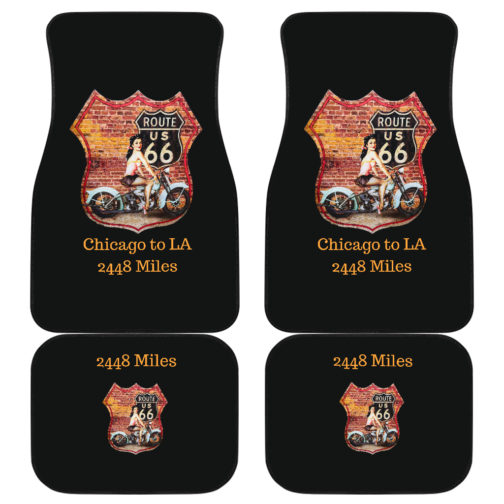 Front And Back Car Mats (Set Of 4) - Route 66