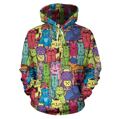 Cartoon Cat Hoodies