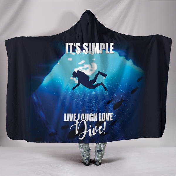 Custom Hoodie Blanket - Simply Diving