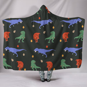 T-rex Hooded Blanket