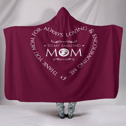 NP Amazing Mom Hooded Blanket