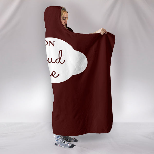 NP Cloud Wine Hooded Blanket