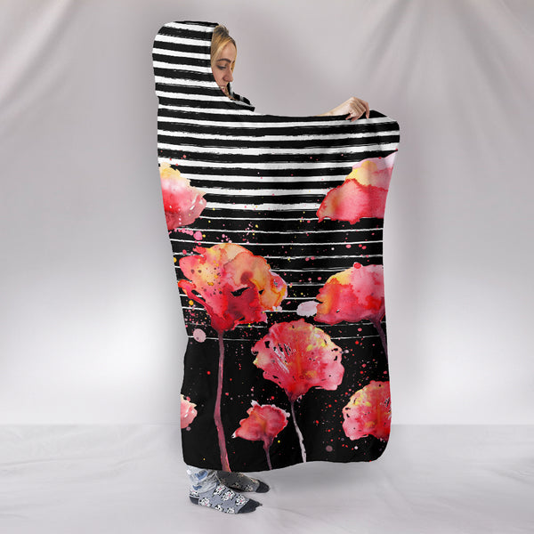 Customised Hoodie Blanket Poppy Design